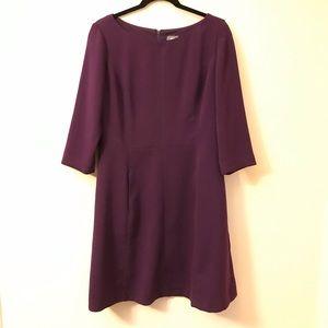 Vince Camuto Long Sleeve Purple Pocketed Dress 14